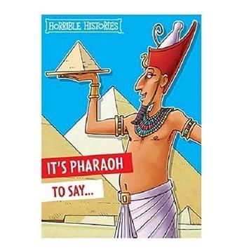 Horrible Histories Egyptian Pharaoh General Birthday Card Amazon