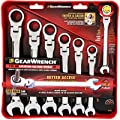 GearWrench 9700 7 Piece Flex-Head Combination Ratcheting Wrench Set SAE