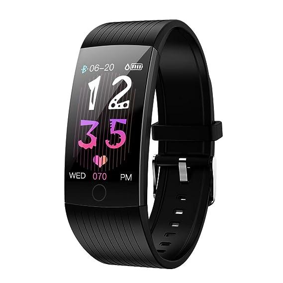 Pulsera Actividad con Monitor Ritmo Cardiaco Smartwatch Fitness Tracker Mujer Hombre Pulsera Inteligente Impermeable IP68 Cronómetros Despertador ...