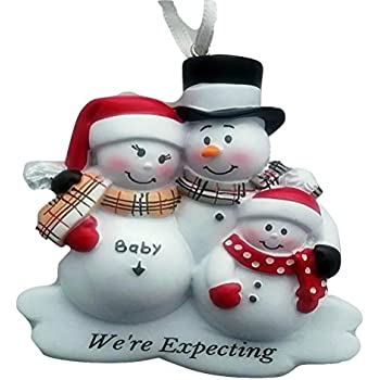 Amazon.com: Snowmen Family We're Expecting a Baby Personalized ...