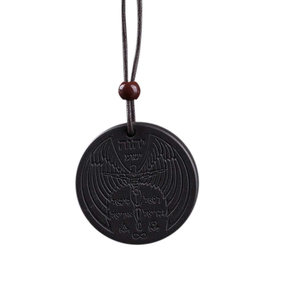 Alixyz Necklace, Energy Quantum Pendant Magnetic Health Power Chain Jewelry (Black)