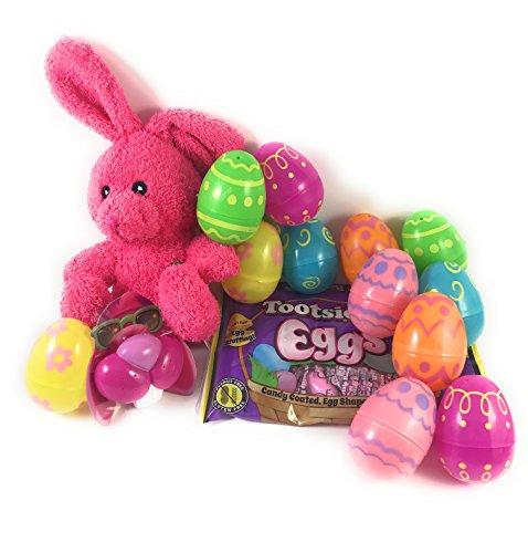 Easter Egg Basket Filler Bundle - 4 Pcs with 12 Printed Plas