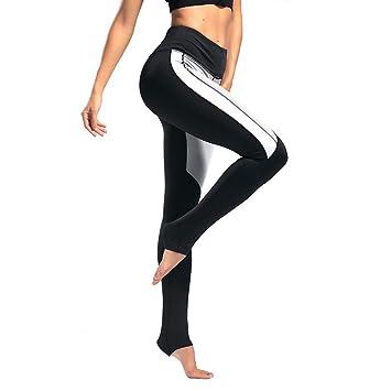 9de2ff5c1f268 SYPNB Pantalones de Yoga Transpirables de Las Mujeres Leggings Deportivos  Ajustados Pantalones de Fitness de Baile de Secado rápido Pantalones  elásticos de ...