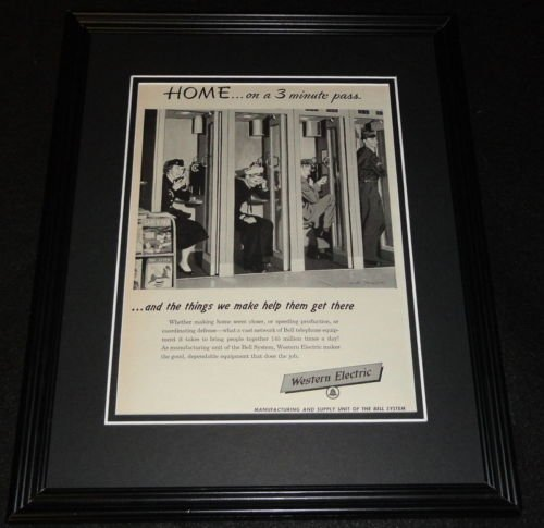 (1951 Western Electric Framed 11x14 ORIGINAL Vintage Advertisement)
