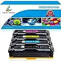 True Image Compatible Toner Cartridge Replacement for Canon 045H Cartridge 045 045H CRG-045 Toner for Canon Color ImageCLASS MF632Cdw MF634Cdw LBP612Cdw MF632 MF634 Laser Printer Toner Ink (4-Pack)