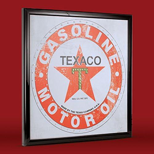 Amazon.com: Crystal Art – Vintage Texaco gasolina aceite de ...
