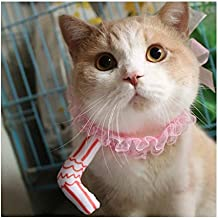 Stock Show Cat Cute Funny Straw Design Hat with Pink Lace Pet Birthday Party Costume Accessory Headwear Headband Headdress for Cat and Small Animals