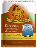 6 Refills for Braun Cartridges - Citrus & Mint - 2 Shaver Shebang cleaner solution replacements for Clean & Renew®
