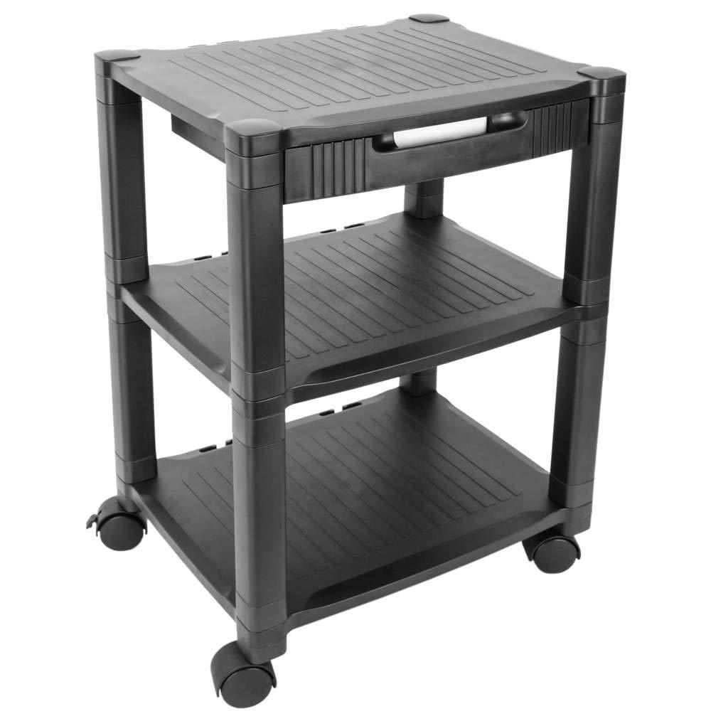PrimeMatik - Carrello per Stampante Supporti con Ruote Tavolino con Gestione dei Cavi PrimeMatik.com