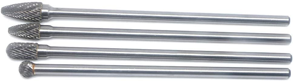 """7/"""" Extra Long Double Cut Rotary File for Die Grinder 1//4/"""" Tungsten Carbide Burr"""