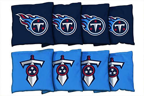 Victory Tailgate Tennessee Titans NFL Cornhole Game Bag Set (8 Bags Included, Corn-Filled)