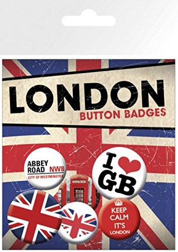 Badges Londres Set 1x Sticker Paquet Calm X Keep amp; 2 1art1® Cm Surprise 15x10 De 4 32mm 25mm vqd5Sw