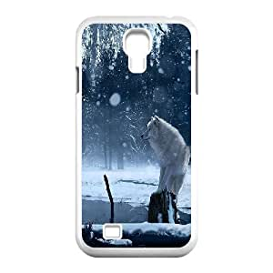 JamesBagg Phone case Wolf love noon,wolf pattern For SamSung Galaxy S4 Case FHYY452839