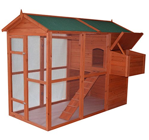 Pawhut Deluxe Large Backyard Chicken Coop/Hen House with Outdoor Run (Large Chicken Coop Kit compare prices)