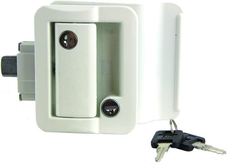 Lippert 239632  RV Entry Door Latch Kit White