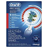 Oral-B Pro 5000 SmartSeries Power Rechargeable Electric Toothbrush with Bluetooth Connectivity and Travel Case Powered by Braun, White (Packaging May Vary)