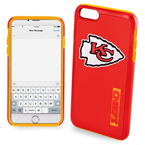 Forever Collectibles - Licensed NFL Cell Phone Case for Apple iPhone 6 Plus / 6s Plus - Retail Packaging - Kansas City Chiefs
