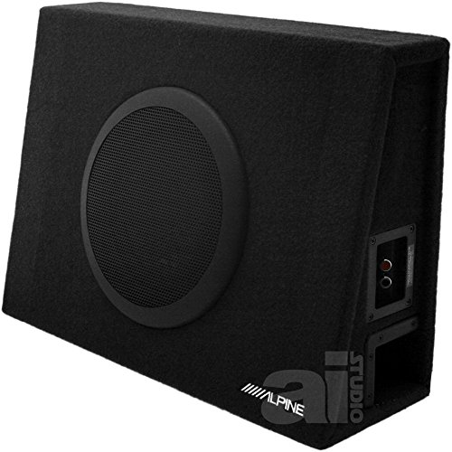Alpine 10 Inch 1000 Watt Loaded Ported Truck Subwoofer Enclosure Box | (Loaded Subwoofer Box)