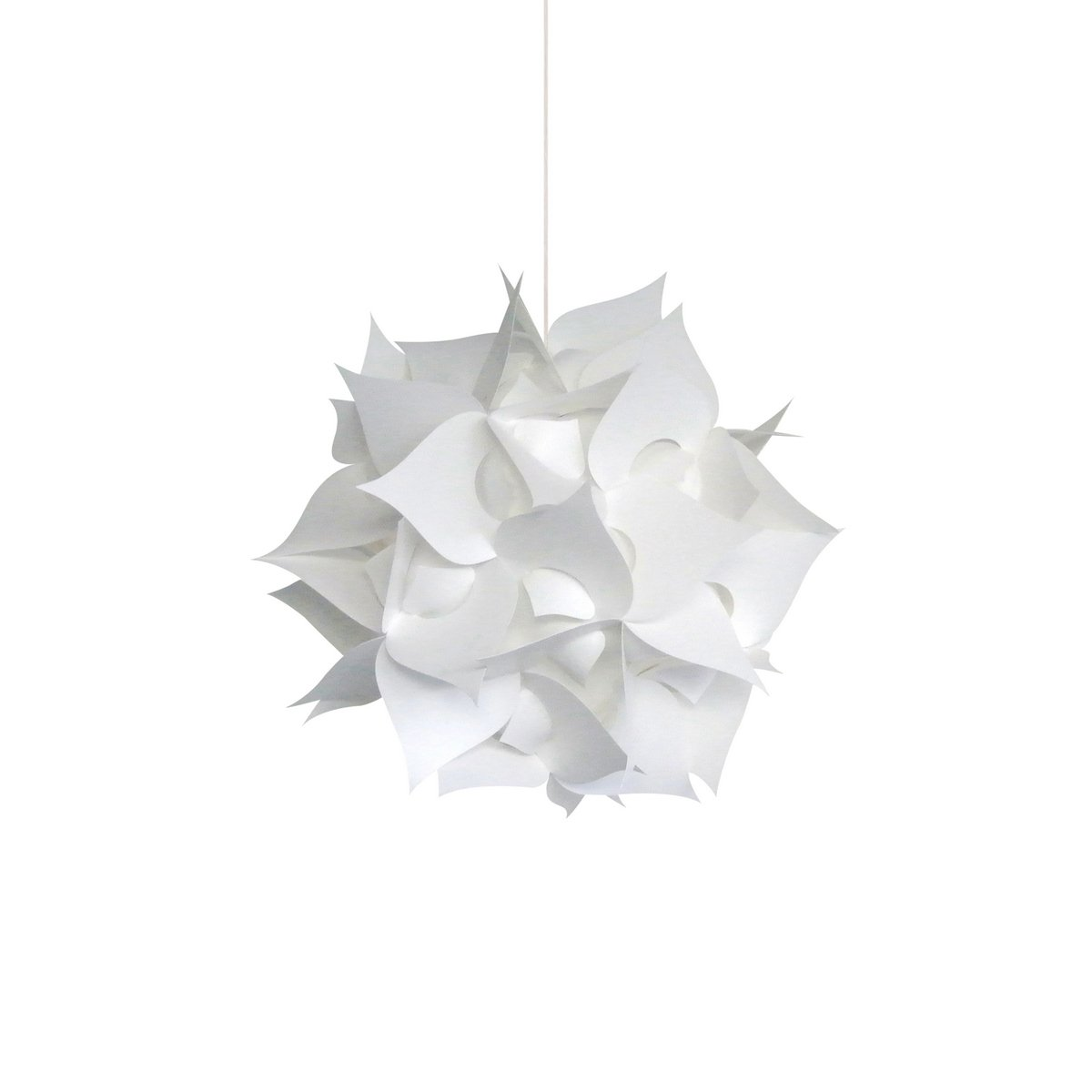 Akari Lanterns Small Spades 12 wide , Warm White Glow, Modern Unique Ceiling Hanging Light Fixtures Swag Plug in or Hardwire as Pendant Lamp Shade – Spiral bulb included, Easy to install
