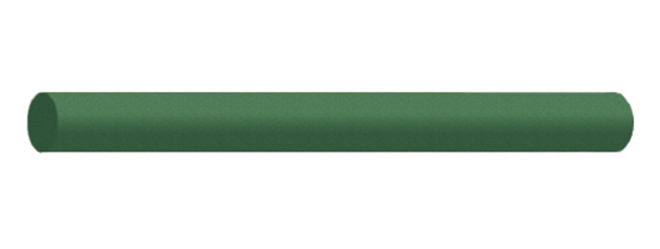 Dedeco 0243 Rubberized Abrasive Block/Stick, Round, Silicon Carbide, Medium, 6'' x 1/2'', Green by Dedeco