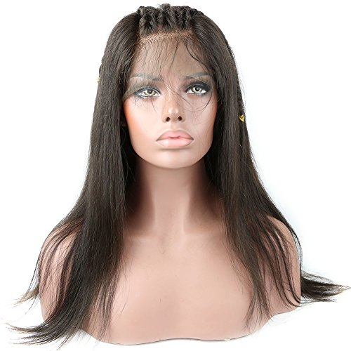 Formal Hair Brazilian Straight Full Lace Human Hair Wigs with Baby Hair 130% Density for Black women Remy Human Hair 14 inch, natural color by Formal Hair
