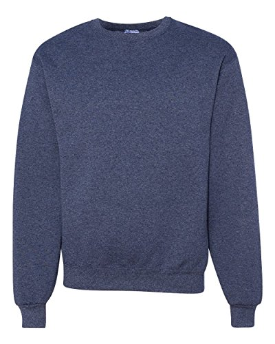 Jerzees Men's NuBlend Crew Neck Sweatshirt, Vintage Heather Navy, XX-Large (Golf Vintage Sweatshirt)