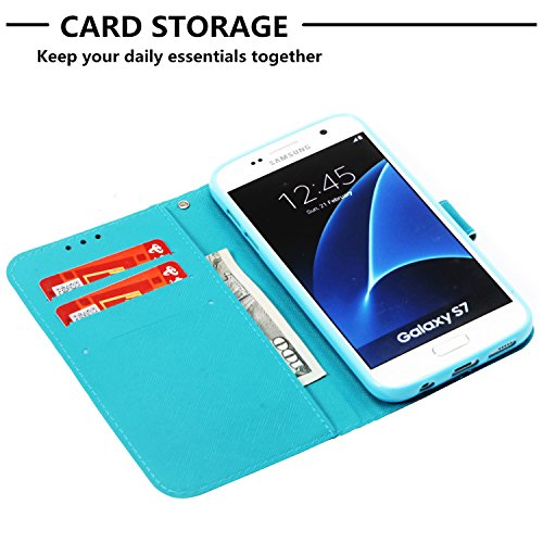 de Housse Leather Flip Coquille Case Swag Cart PU Protection Cover Protector et Couverture Coque Cuir Etui S7 Samsung Etui COZY pour Galaxy Fentes Stand Fonction Wallet Portefeuille Coque HUT de kaléidoscope avec HaB86q