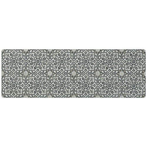 Vinyl Floor Runner, Durable, Soft and Easy to Clean, Ideal for Kitchen Floor, Entryway or Hallway Floor Mat. Freestyle, Iron Filigree Pattern (2 ft x 6 ft)
