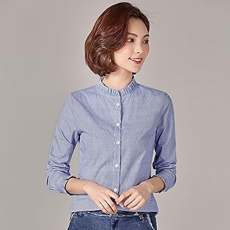XXIN /La Mujer Blanca De Algodón Camiseta Long-Sleeved/Hongo En Abierto/Territorial La Camiseta Camiseta/XXXL/Azul: Amazon.es: Deportes y aire libre
