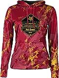 ProSphere Girls' Hat Creek Volunteer Fire Department Marble Hoodie Sweatshirt (Apparel)