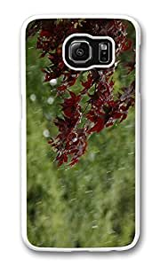 Galaxy S6 Case, S6 Case,Weather Tree Shock Absorption Bumper Case Protective Slim Fit Hard PC Cover for Samsung Galaxy S6 White