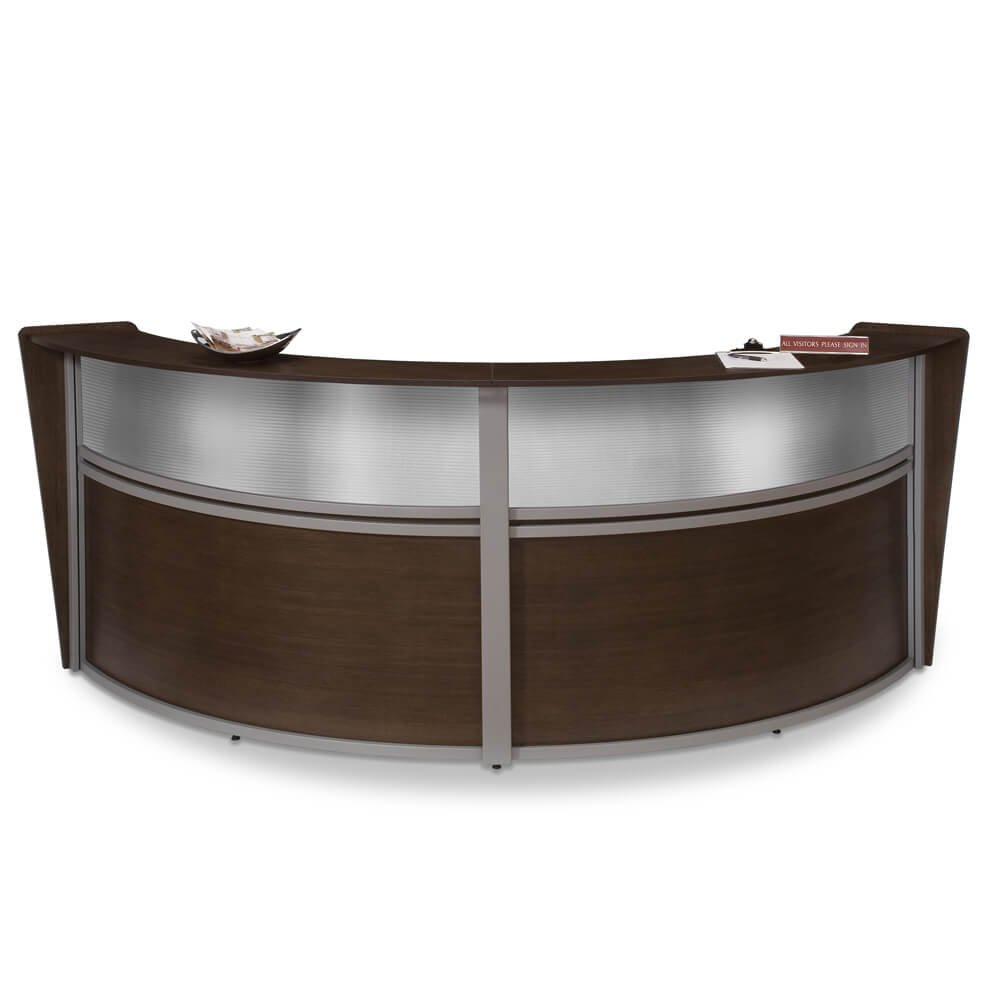 Office Reception Desk - Arrive Curved Reception Counter