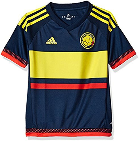 Adidas Soccer Youth Colombia jersey, Large, Collegiate Navy/Lemon Peel ()