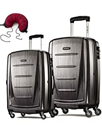 Winfield 2 Fashion 2 Piece Set Spinner 24 and 28 With Travel Pillow