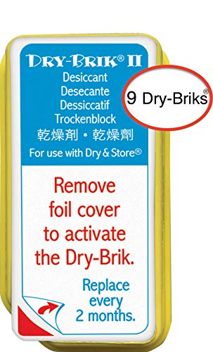 Dry-Brik® II Desiccant Blocks - 9 Blocks (3 Packs of 3 Blocks)| Replacement Moisture Absorbing Block for the Global II and Zephyr by Dry & Store | Hearing Device Dehumidifiers