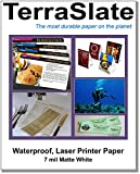 TerraSlate Paper 7 MIL 8.5'' x 11'' Waterproof Laser Printer/Copy Paper 25 Sheets