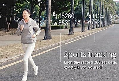 Juboury Universal Bluetooth Smart Activity Watch Wearable Fitness Tracker Bracelet Smart Wristbands with Pedometer Sleep Tracker