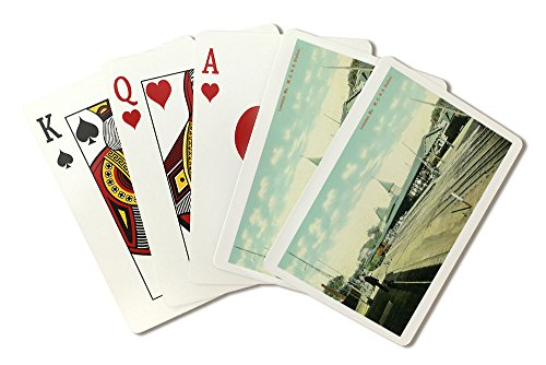 Lewiston, Maine - Maine Central Railroad Station View (Playing Card Deck - 52 Card Poker Size with Jokers)