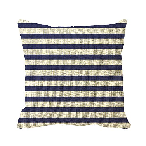 Used, Tinashe Pillowcase Navy Blue and Pure White Stripes for sale  Delivered anywhere in Canada