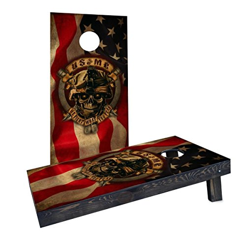 (Custom Cornhole Boards CCB1694-AW USMC We Fight What You Fear Cornhole Boards)