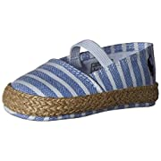 Ralph Lauren Layette Bowman Espadrille (Infant/Toddler), Blue Bengal Stripe, 2 M US Infant