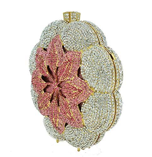 Pink Rondes Perles KOKR De Forme Sacs Fête Diamant De À De en Dîner De Main Sacs OqZwAyz46O