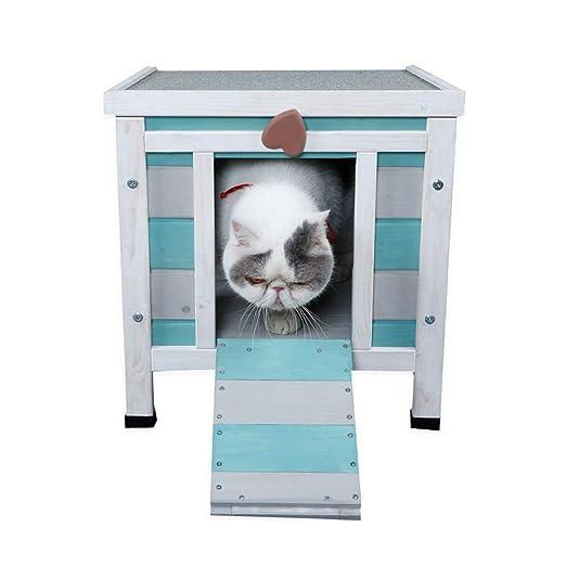 Casetas para perros Pet House Cat Villa Casa de Madera para ...