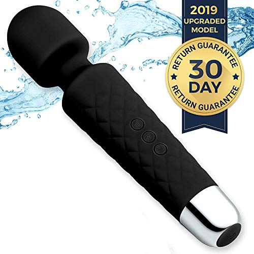 Personal Mini Wand Massager by Kedeelan - Strongest Cordless Handheld Vibrating Power - Best Rated for Travel Gift - Magic Stress Away - Perfect Relief on Neck, Back, Foot, Hand Pains & Sports Injury