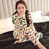 MOXIN ladies pyjamas autumn cotton long sleeve suit ?100% Cotton? , xxl , B