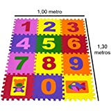 Tapete números em eva para crianças 12 peças infantil (12 Peças)