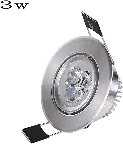 Mumnk 55-60mm panel redonda de plata empotrada LED Pequeño ...