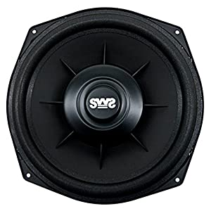 "Earthquake Sound SWS-8X Shallow Woofer System Series Single 4 Ohm 600 Watt 8"" Car Subwoofer + Speaker Adapter (pair)"