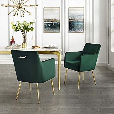 InspiredHome Emerald Velvet Dining Chair