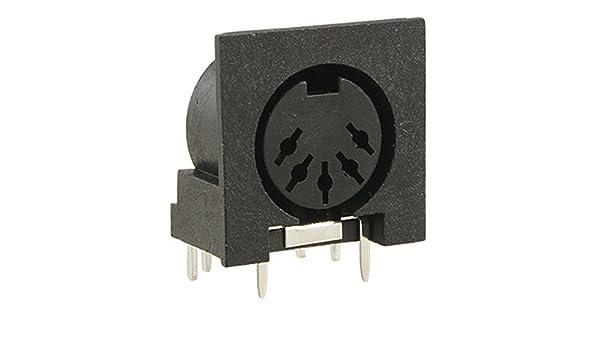 Amazon.com: eDealMax 5 piezas DIN DE 5 Pines Para montaje en PCB enchufes hembra Para teclado de la PC: Electronics